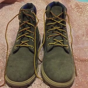 Olive Green Authentic Timberlands
